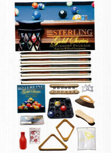 Sterling Billiards Gold Series Accessory Package