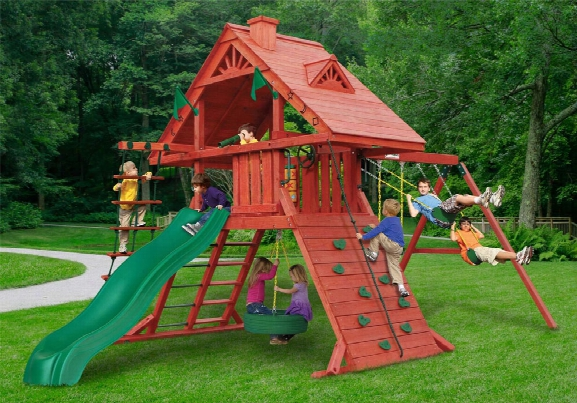 Sun Palace Wooden Swing Set