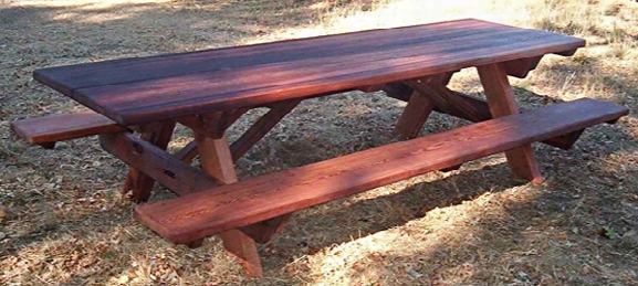 Ten-foot Heritage Old Growth Picnic Table With 2 Benches