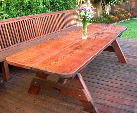 Ten-foot Heritage Old Growth Picnic Table With 4 Benches