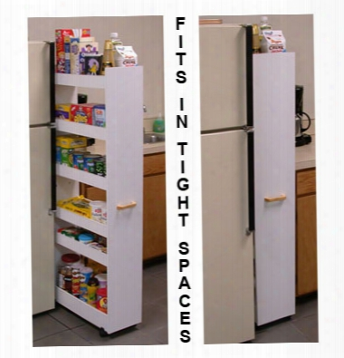 Thin Man Mobile Pantry Cabinet