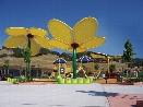 Custom Nature Shade Structure Flower 22 Foot x 21 Foot