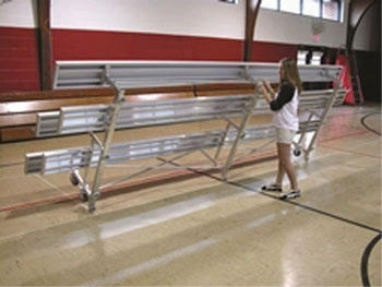Tip N Roll Bleacher Aluminum 2 Row 9 Foot Long