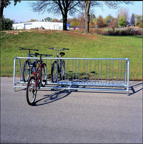 Traditional Double Sided Bicycle Rack Portable - 10 Bicycles
