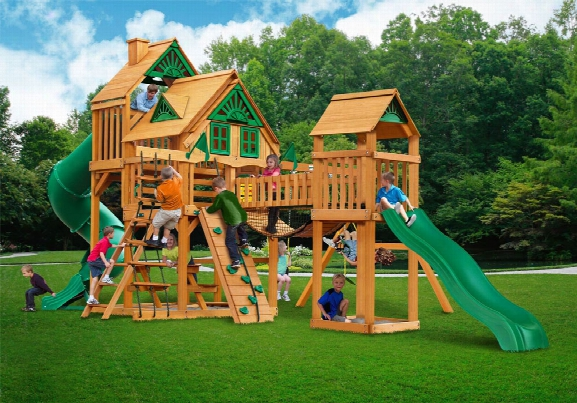 Treasure Trove Treehouse Ap Wooden Swing Set