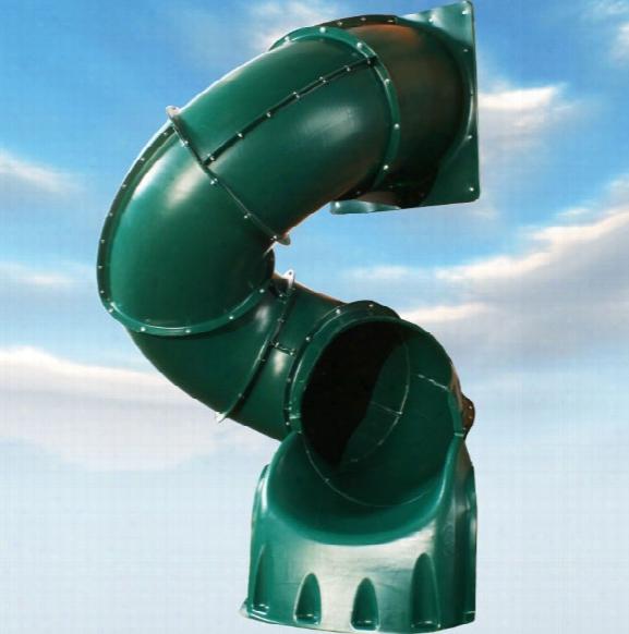 Turbo Tube Slide 5 Foot High Deck - Green