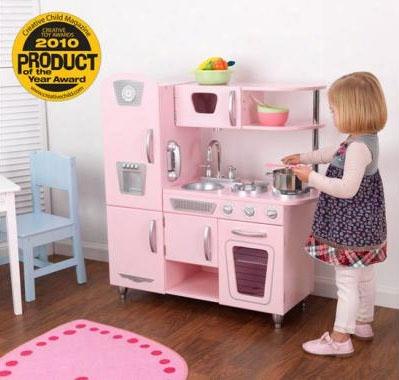 Vintage Play Kitchen - Pink