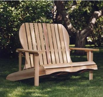 Western Red Cedar Love Seat