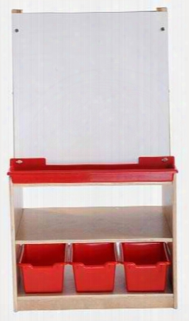 Art Easel With Storage - 2 Station