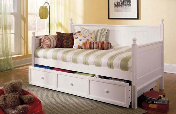 Casey Iid Aybed With Trundle In White Finish - Twin