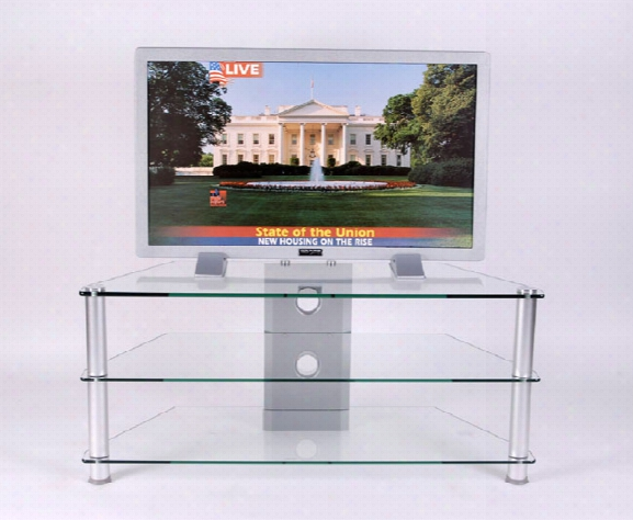 Clear Tempered Glass 42 Inch And Below Plasma Tv Stand