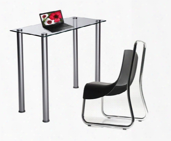 Clear Tempered Glass Utility Desk Or Utility Stand