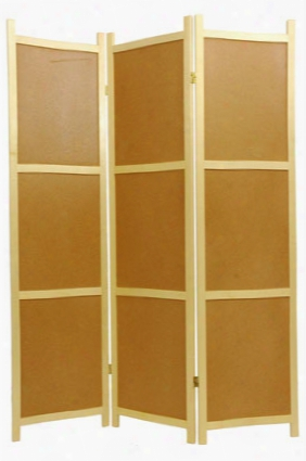 Cork Board Shoji Screen 3 Panel