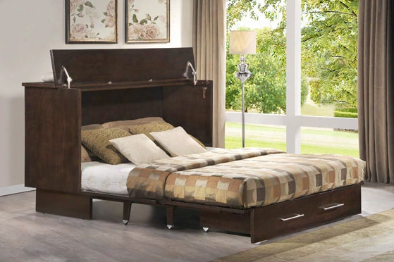 Creden-zzz Cabinet Bed - Queen Coffee Finish
