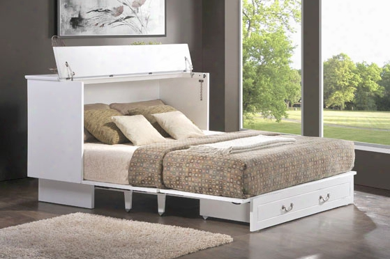 Creden-zzz Cabinet Bed - Queen Cottage In Traditional White
