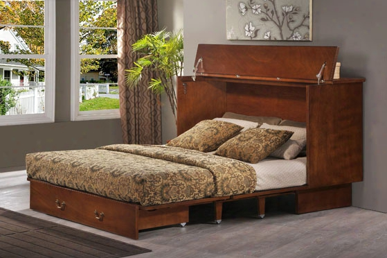 Creden-zzz Cabinet Bed - Queen Raditional Pekoe Finish