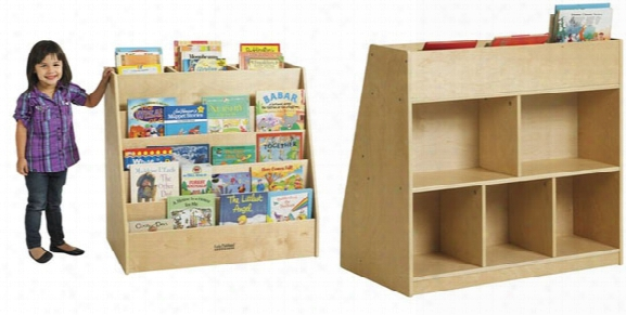 Display And Store Double Sided Mobile Book Cart