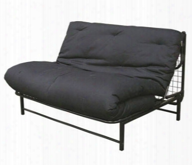 E-frame Twin Size Combo Frame And Mattress Futon Set