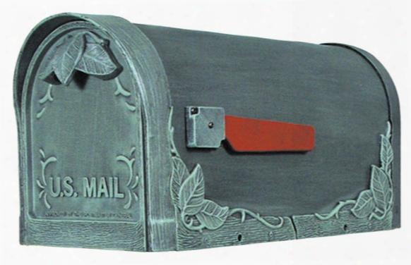 Floral Cast Aluminum Mailbox