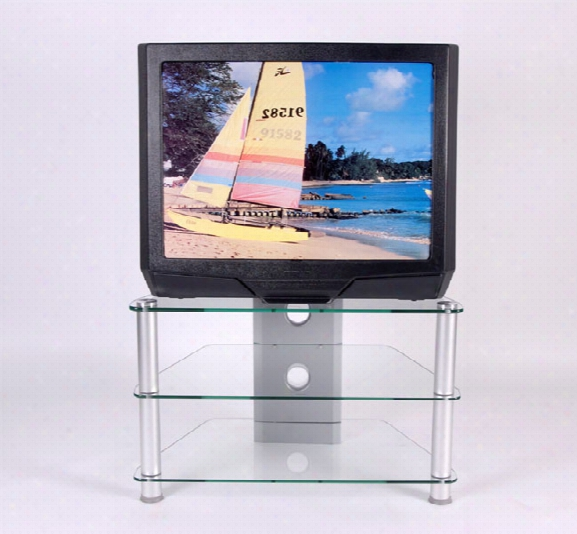 Glass And Aluminum 32 Inch Plasmalcd Tv Stand