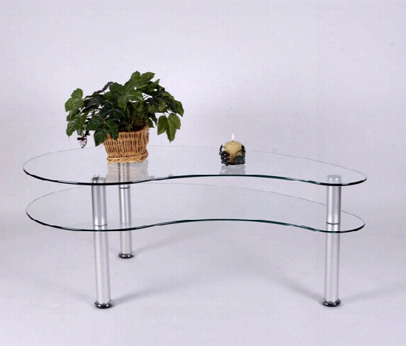 Glass And Aluminum Coffee Table