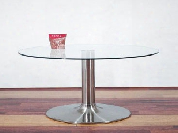 Glass And Aluminum Coffee Tableend Table