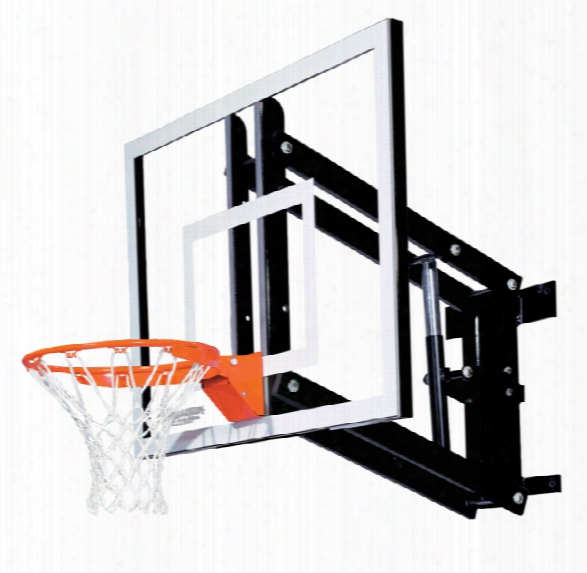 Gs48 Wall Mount Basketball System - Adjustable Glass