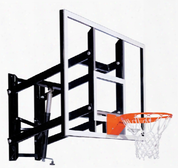 Gs60 Wall Mount Basketball System - Adjustable Glass