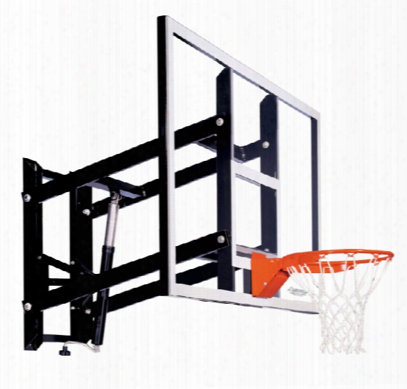 Gs72 Wall Mount Basketball System - Adjustable Glass