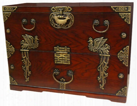 Japanese Phoenix Rising Blanket Chest