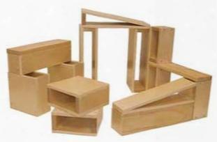 Large Hollow Wooden Block Set - 18 Piece