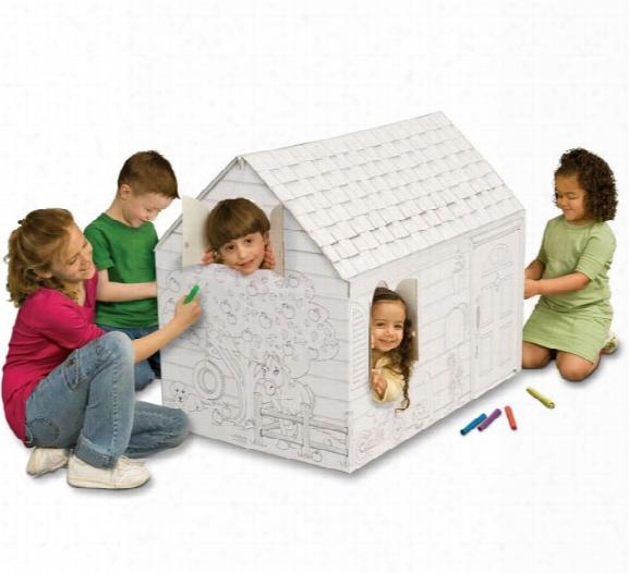 My Very Own Hide And Seek Cardboard Playhouse