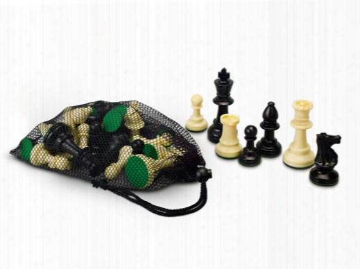 Single Weight Plastic Chessmen Set