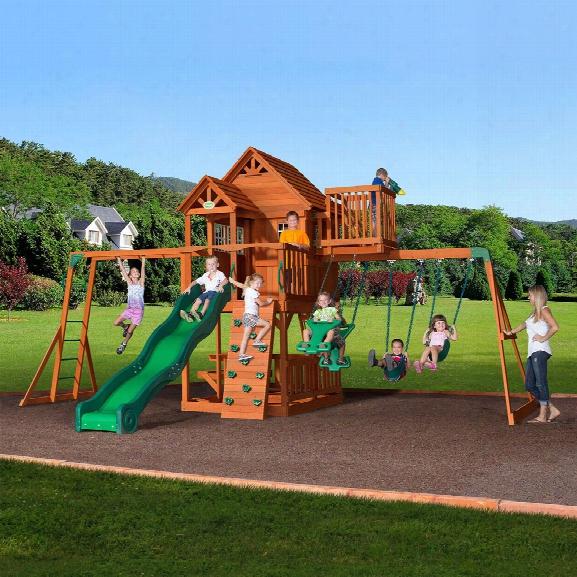 Sky Fort Wooden Swing Set