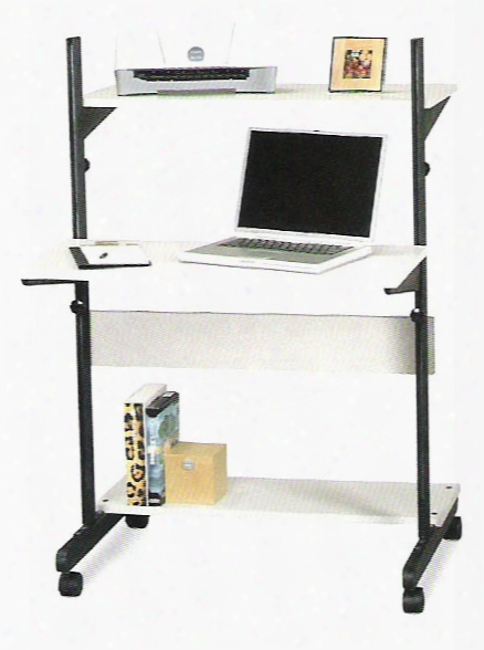 Soho Adjustable Computer Workstation - Blackoak