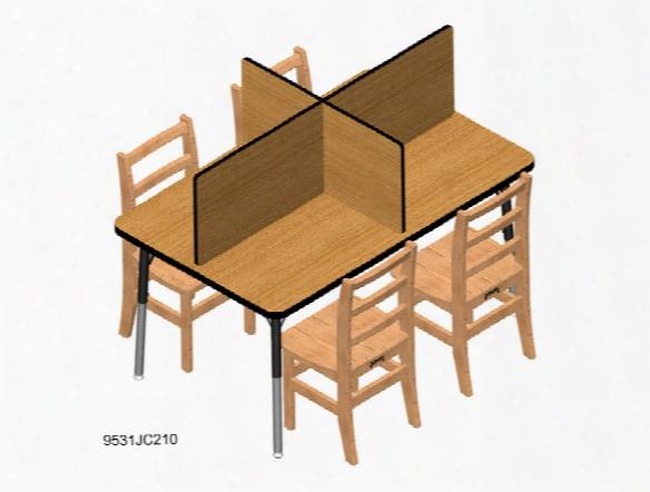 Study Carrel - Fits Tables 30 X 48