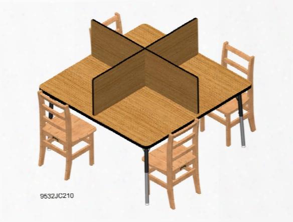 Study Carrel - Fits Tables 48 X 48