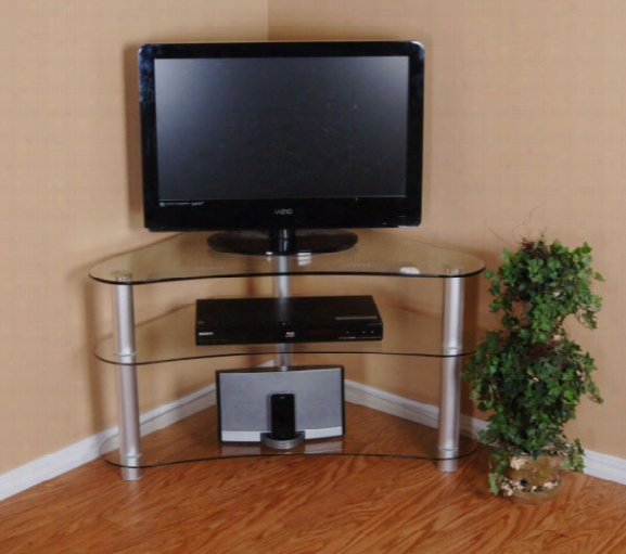 Tier One Designs 37 Inch And Below Clear Glass Tv Stand
