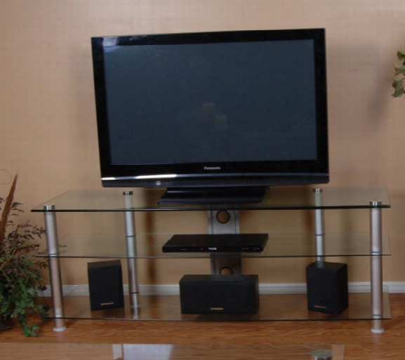 Tier One Designs 60 Inch And Below Clear Glass Tv Stand