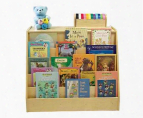 Two Sided Book Display And Storage Unit