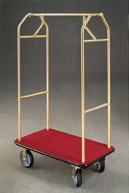 Value 4 Wheel Bellman Cart - Satin Aluminum