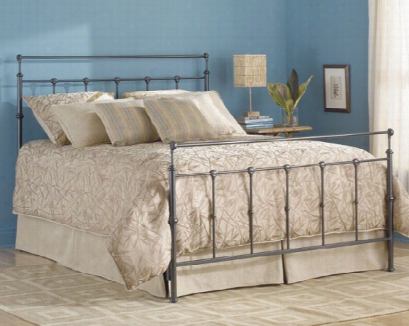 Winslow Bed With Frame Mahogany Gold Finish - Twin
