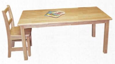 Wooden Rectangular Table 24 X 48 - 18 High Legs