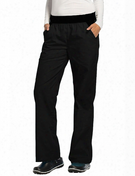 Cherokee Flexibles Flare Leg Scrub Pant - Black - Female - Women's Scrubs