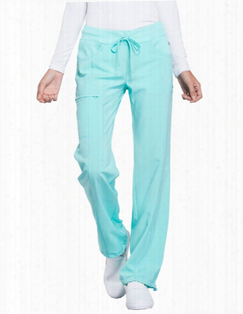 Cherokee Infinity Antimicrobial Drawstring Cargo Pant - Aqua - Female - Women's Scrubs