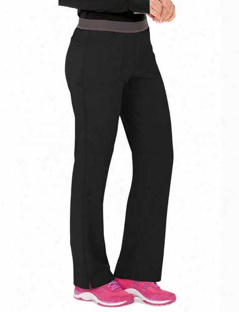 Cherokee Infinity Antimicrobial Low-rise Slim Fit Scrub Pant - Black - Female - Women's Scrubs