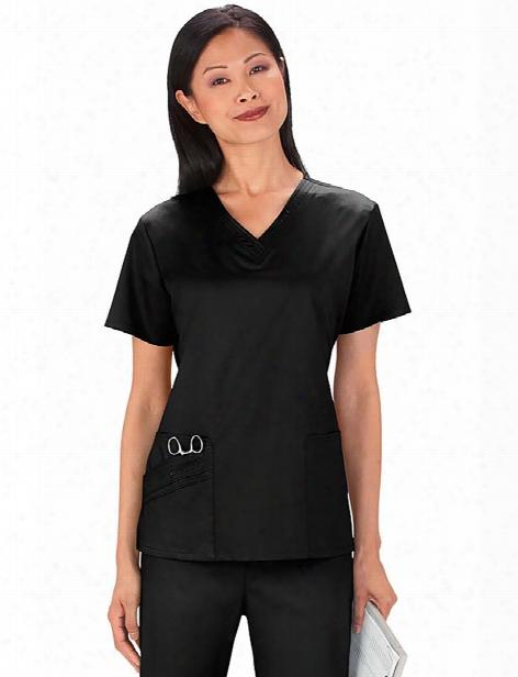Cherokee Luxe V-neck Top - Black - Female - Women's Scrubs