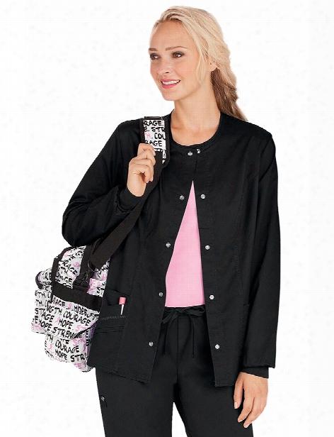 Cherokee Luxe Warm-up Jacket - Black - Female - Women's Scrubs