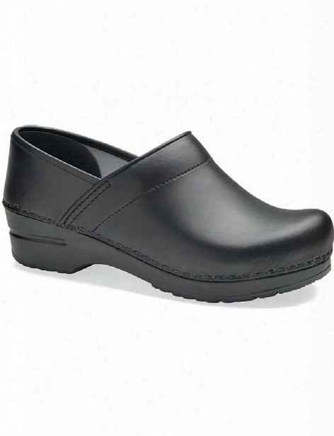 Dansko Professional Leather Box Clog - Black - Male - Men's Scrubs