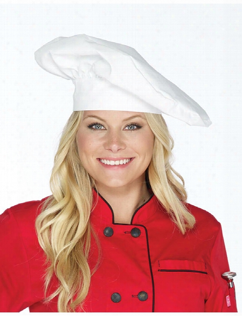 Five Star Chef Apparel Five Star Chef Apparel White Chef Hat - Unisex - Chefwear